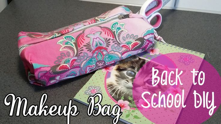 ♥ DIY Back To School ♥  MAKE-UP Tasje of Etui Zonder te Naaien! ♥