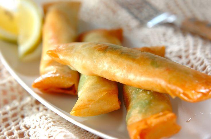エビとアボカドのチーズ春巻きのレシピ・作り方 - 簡単プロの料理レシピ | E・レシピ