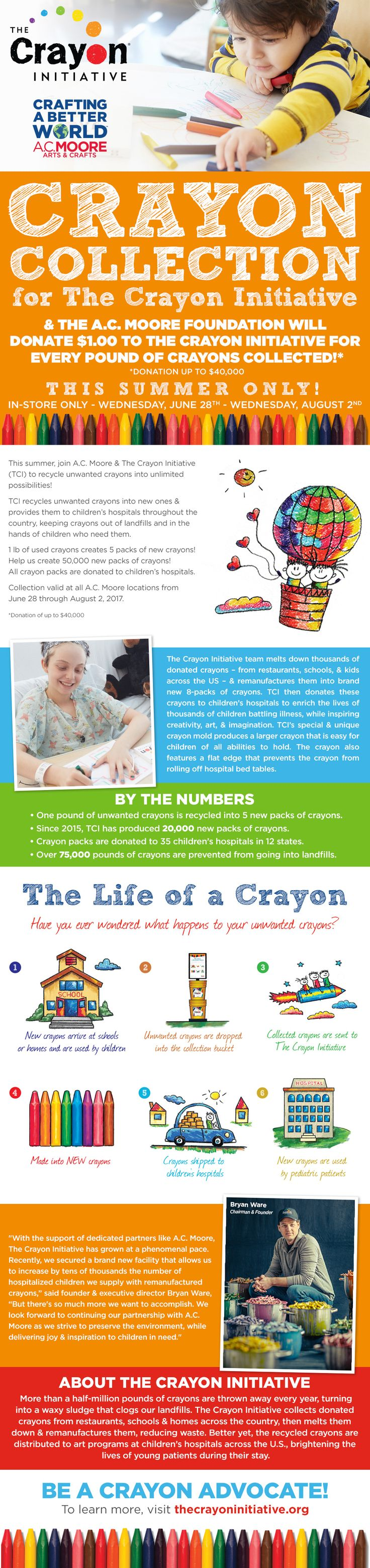 The Crayon Initiative at AC Moore Summer 2017