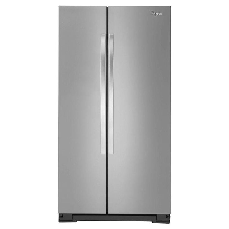 Whirlpool 36 in. W 24.9 cu. ft. Side by Side Refrigerator in Monochromatic Stainless Steel-WRS325FNAM - The Home Depot