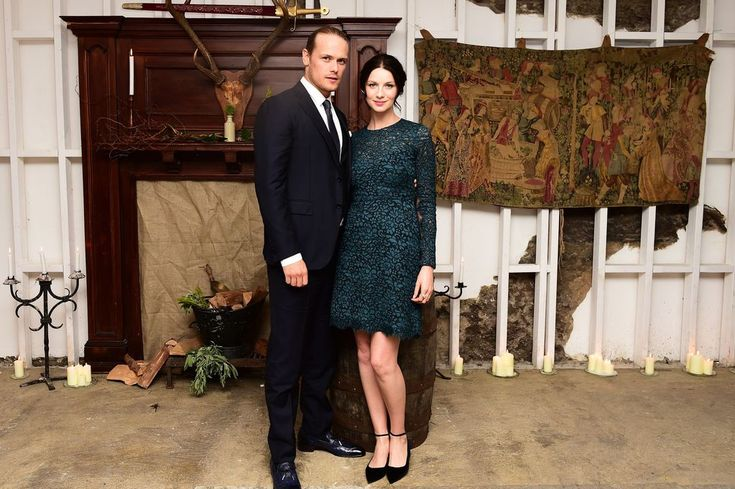 Sam Heughan and Caitriona Balfe enjoy the red carpet for Outlander double UK premier in London and Glasgow
