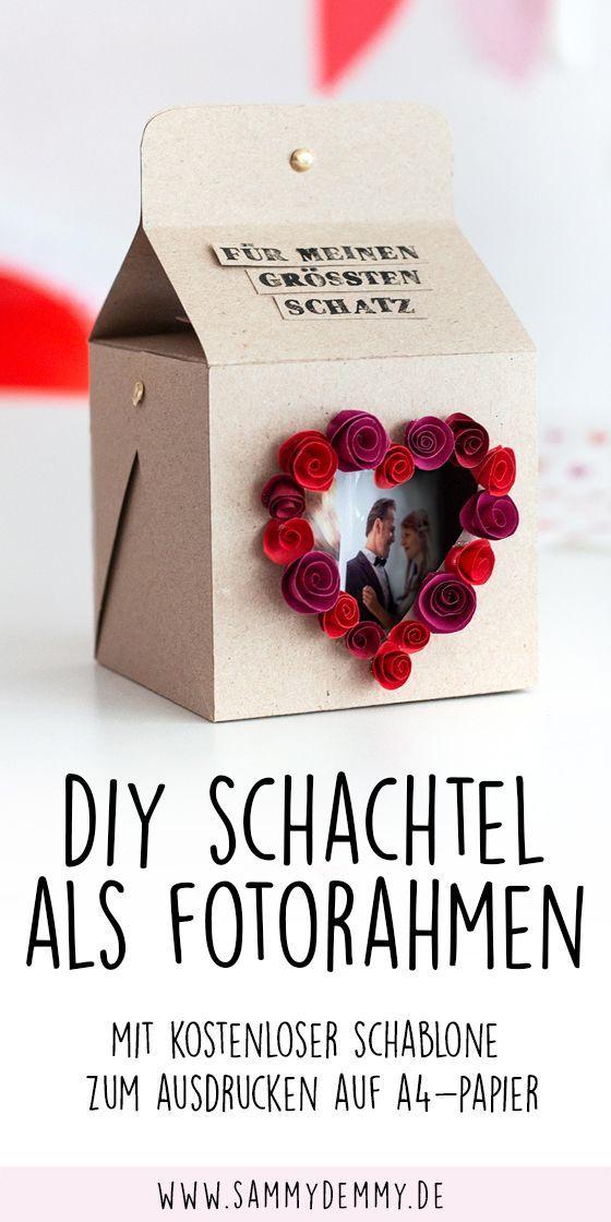 Fotogeschenk & Schachtel selber basteln mit Anleitung