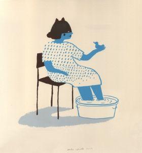 Ca bassine chez Joséphine  Sandra Poirotte Sérigraphie