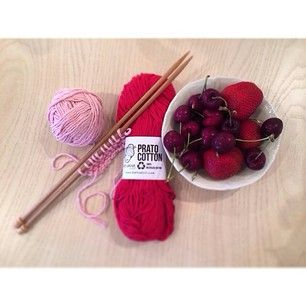 In #cherries and #strawberries #mood... #love for #pink and #red shades!