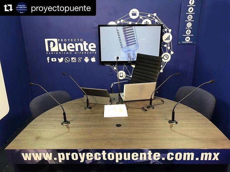 #Repost @proyectopuente  Feliz lunes! Ya al aire a través de nuestro sitio web y todas las redes sociales desde el nuevo estudio digital!. #ConectaProyectoPuente #proyectopuente #noticias #Hermosillo #Sonora