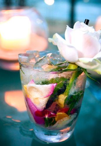 Gin and Rose Cocktail: So pretty, you may not want to drink it.