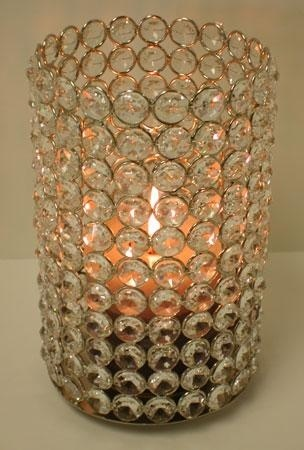 Crystal Bling Pillar Votives Wedding Centerpieces, 22% Off | Recycled Bride