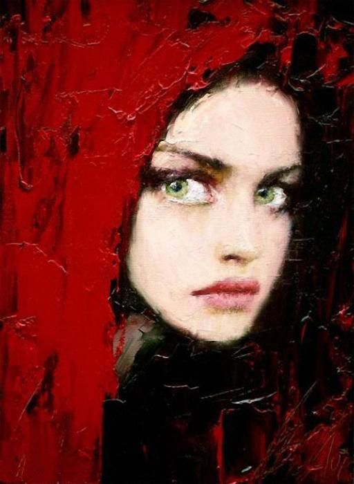 Taras LobodaArt Women, Little Red, Colors, Red Riding Hoods, Amanda Seyfried, Painting, Red Hoods, Green Eye, Tara Loboda