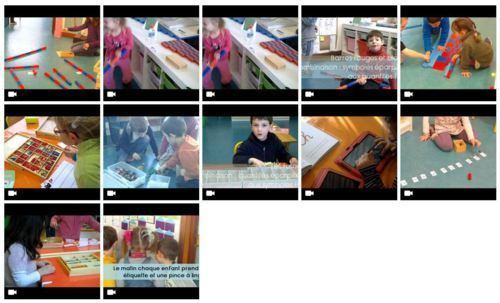 vidéos ateliers autonomes / montessori