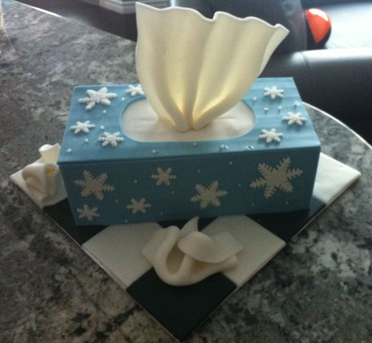 Kleenex Box Good Bye Cake