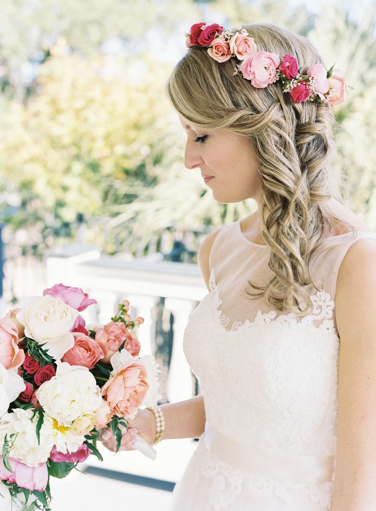 Bridal Hairstyle With Rose : 225 best flower crowns images on pinterest