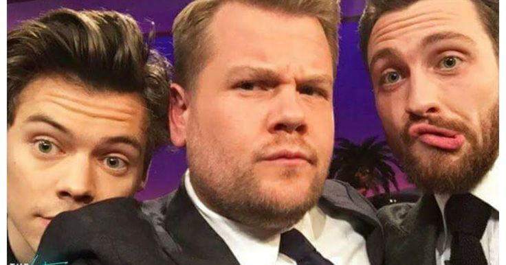 "Harry Styles appeared on ""Late, Late Show"" with James Corden.   Actor Aaron Taylor-Johnson was also invited and the three had a really in..."