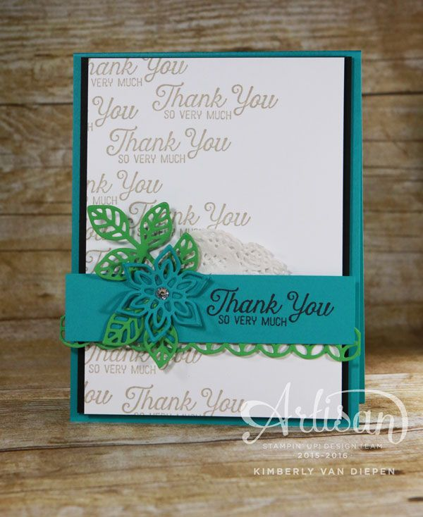The Artisan Design Team is at it again with a beautiful Blog Hop sharing ideas using the Flourishing Phrases stamp set and more.
