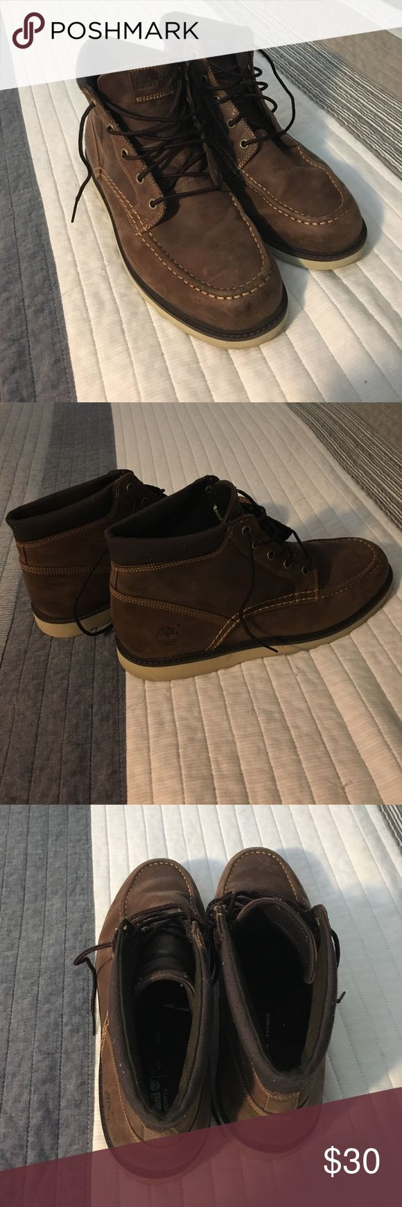 Brown timberland boots Great condition. Hardly worn. Timberland Shoes Chukka Boots