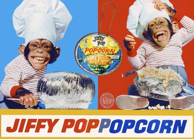 Jiffy Pop Popcorn Chimps my Favorites Pinterest