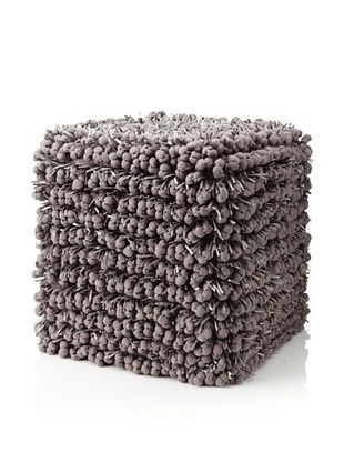 Design Accents Funberry Pouf, Grey, 18