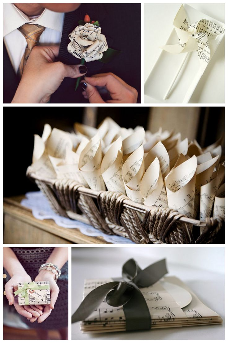 CD sleeves of sheet music - wedding favors??
