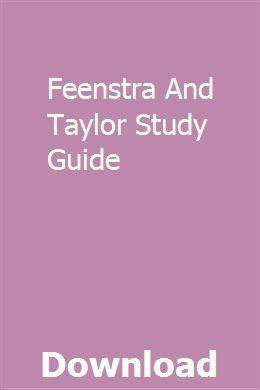 Feenstra And Taylor Study Guide pdf herunterladen   – tantsotrore