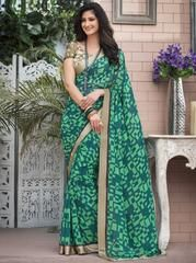 Green Color Georgette Party Wear Sarees : Priyush Collection YF-64746
