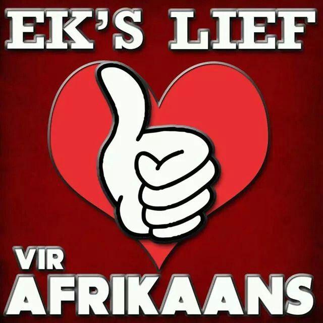 Ek is lief vir Afrikaans