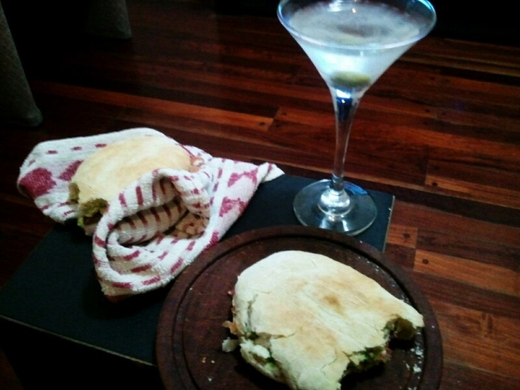 Martini + homemade grilled sandwich