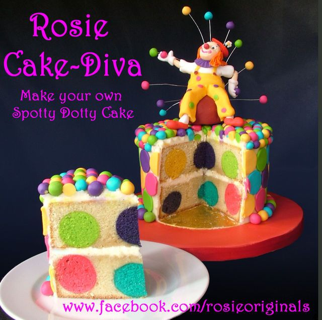 Spotty Dotty Cake Tutorial - by RosieCakeDiva @ CakesDecor.com - cake decorating website