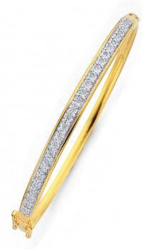 9ct Diamond Bangle