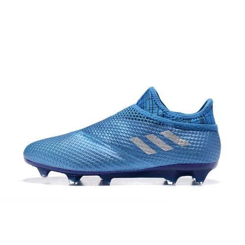 Offre 2016 Adidas Messi 16 Pureagility FG AG Bleu Chaussures de foot