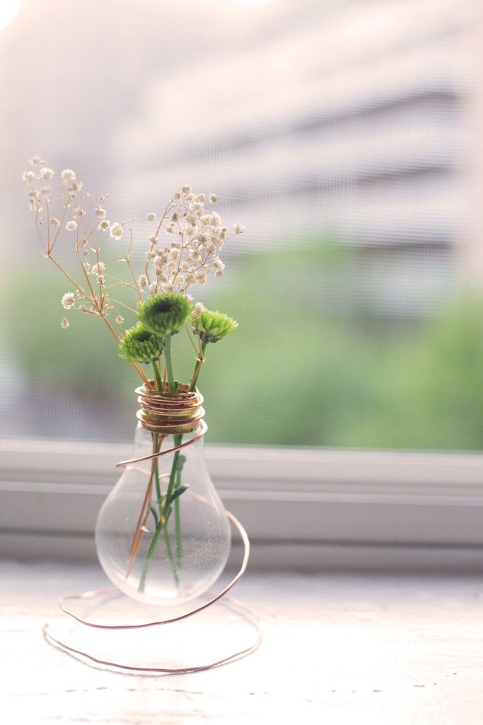 DIY Lightbulb vase by North and Market