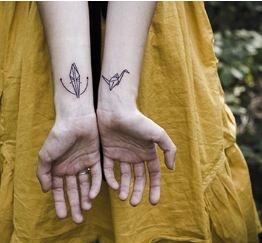 Origami paper crane tattoo ingrained pinterest for Paper crane tattoo