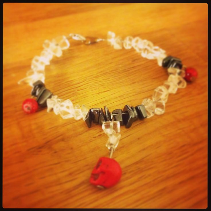 Bracelet with skull pendant I made a couple of days ago