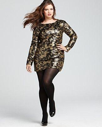 Prairie New York Plus Size Sequin Shift Dress | Bloomingdale's