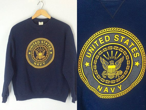 Vintage Navy Sweatshirt United States Navy by ShirleyBoutique