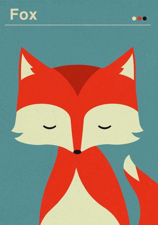 Composition interessante pour seulement une tête de renard