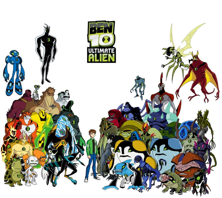 Ben 10 Ultimate Alien--Every alien, regular and ultimate!
