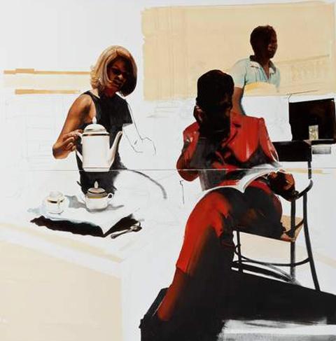 Paintings by Meleko Mokgosi