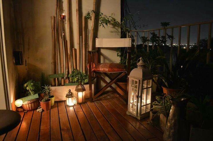 Un balcón bien decorado