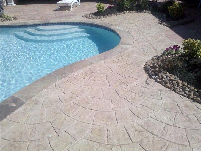 concrete pool decks advanced concrete designs inc humble tx