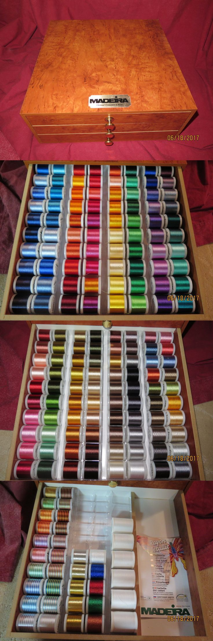 Oltre 25 fantastiche idee su madeira thread su pinterest machine bobbins and thread 83920 new madeira 190 spools rayon embroidery thread with chest jv9 nvjuhfo Image collections