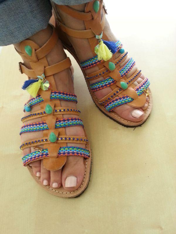 Handmade leather gladiator sandals! Size 5 - 10.5 US / 35 - 41 EU