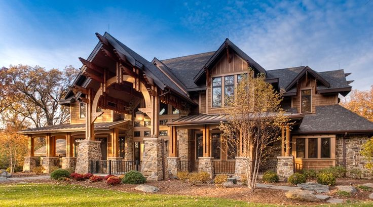 Western Rustic Timber Home Influenced by Old World Homes