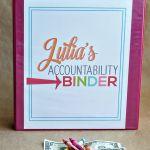 Organization Tips: Make an Accountability Binder for your kids to teach work and money management www.thirtyhandmadedays.com