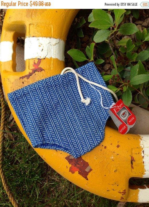 Sweet Summer Sale 50's Blue Chevron Pattern Knit High Waist Speedo Boy Swim Trunks Swim Wear by Regal size 4 by Twinklestarmoon on Etsy