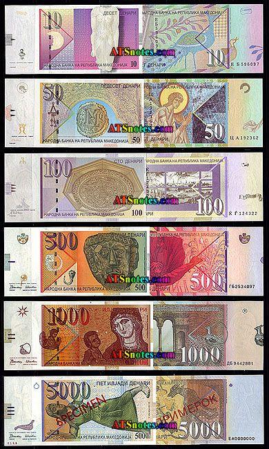 macedonia currency   Macedonia banknotes - Macedonian paper money catalog and Macedonian ...