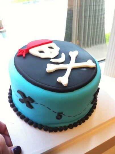pastel pirata azul