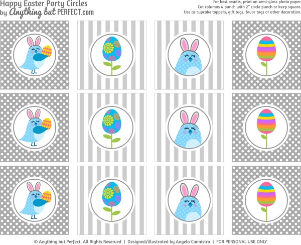 119 best easter cupcakes toppers tags wrappers images on free printable easter tags negle Images