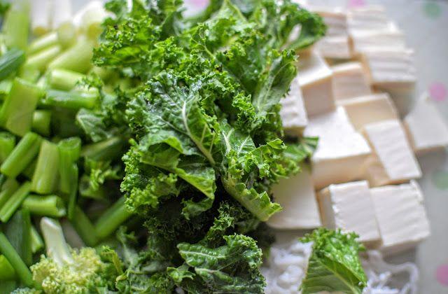Food:  Broccolli and Kale Vegan  Miso Soup Recipe