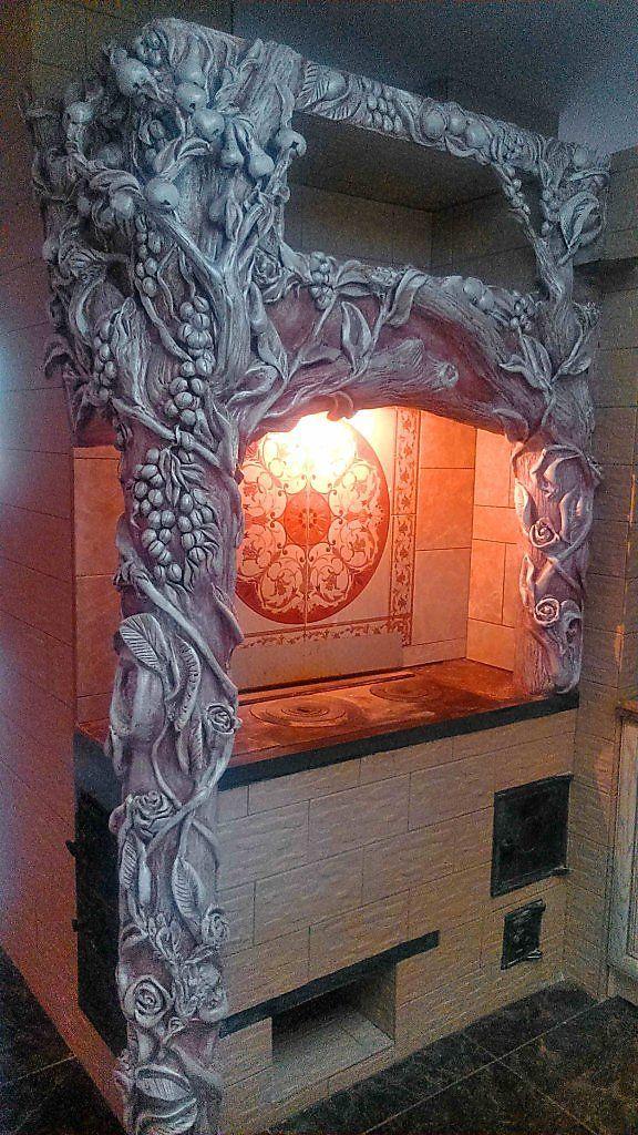 печь - Скульптура и лепка - Лепные панно и барельефы