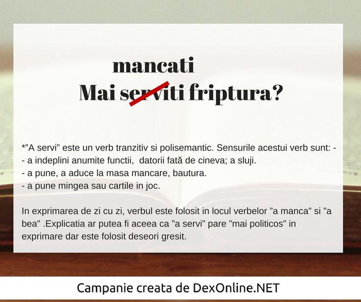 Salvam limba romana impreuna! #salveazalimbaromana #dex #gramatica http://dexonline.net/definitie-servi