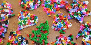 Fusible Bead Christmas Ornaments
